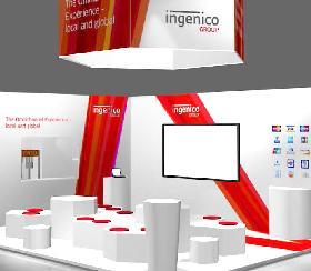 dmexco Messestand für Ingenico Group