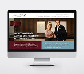 Neue Website für Zarges von Freyberg Hotel Consulting
