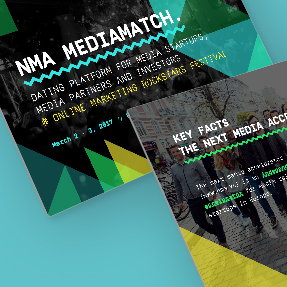 "Corporate Design for new startup event ""MediaMatch"""
